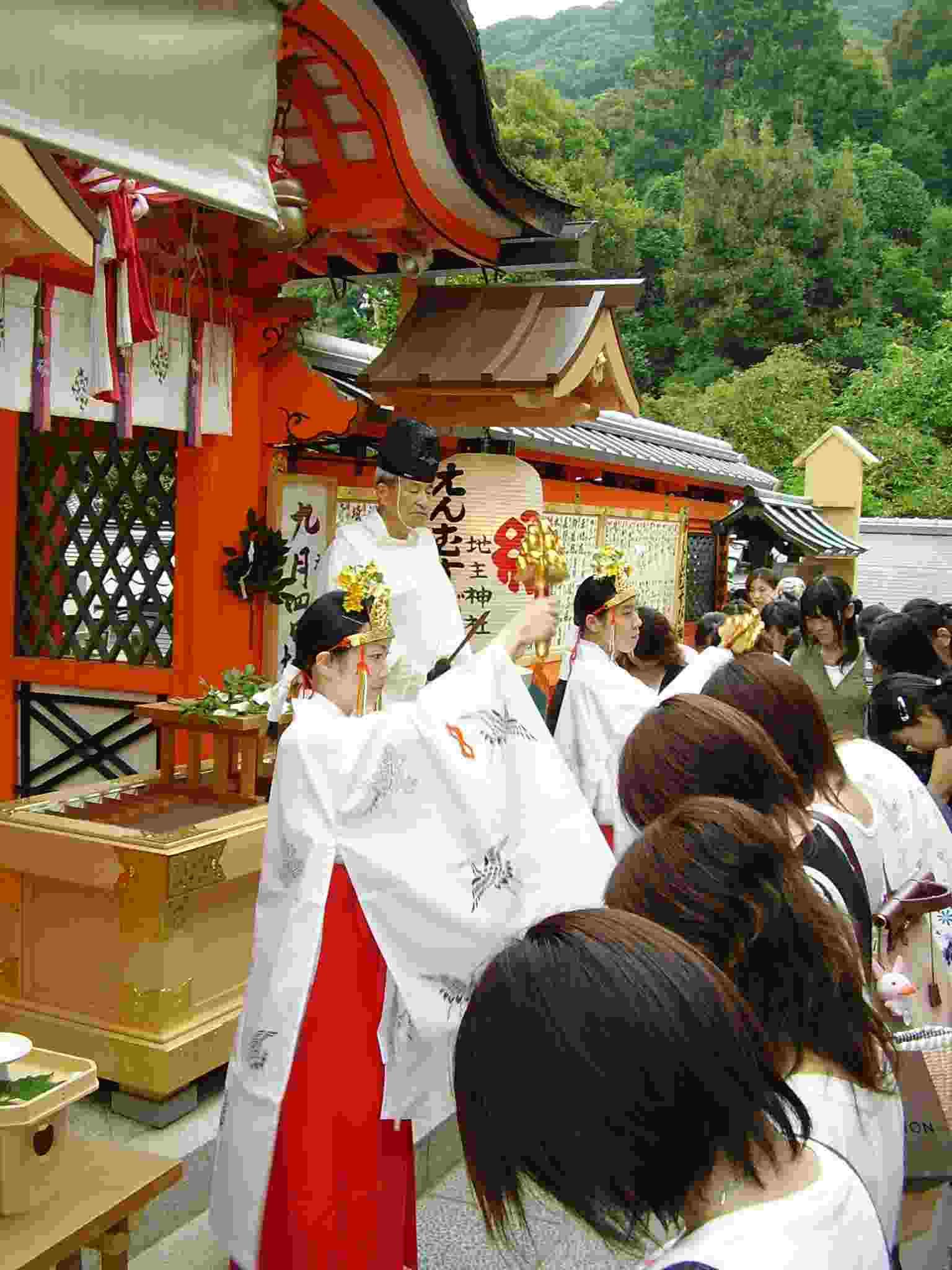 えんむすび地主祭り 巫女神鈴 京都地主神社