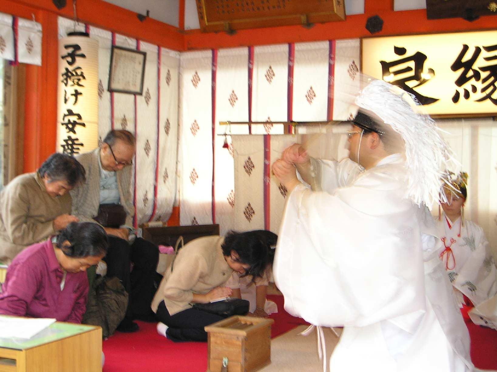 京都地主神社 敬老祭 お祓い