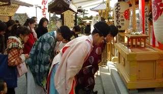 地主神社節分祭玉串拝礼