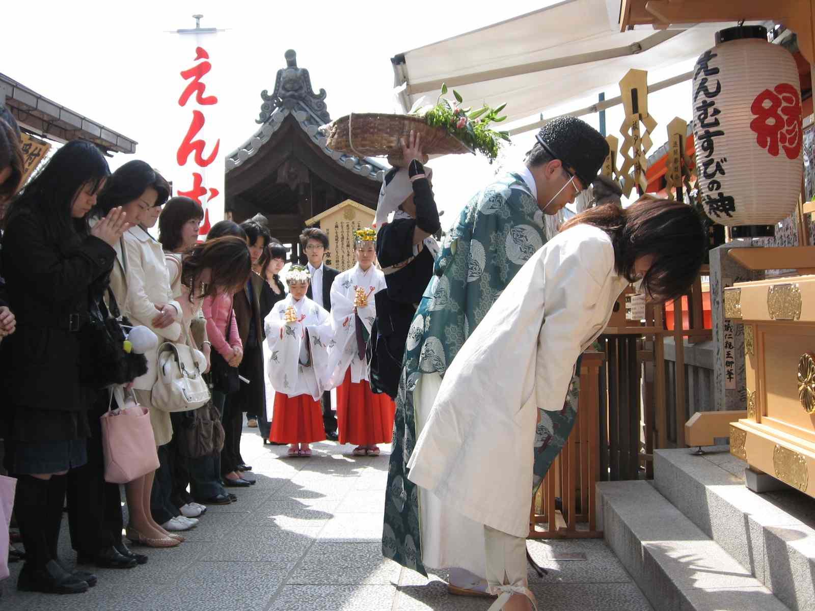 桜祭り 玉串拝礼