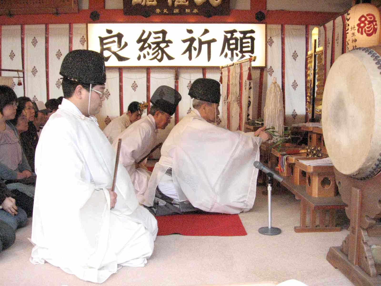 地主祭り 宮司拝礼