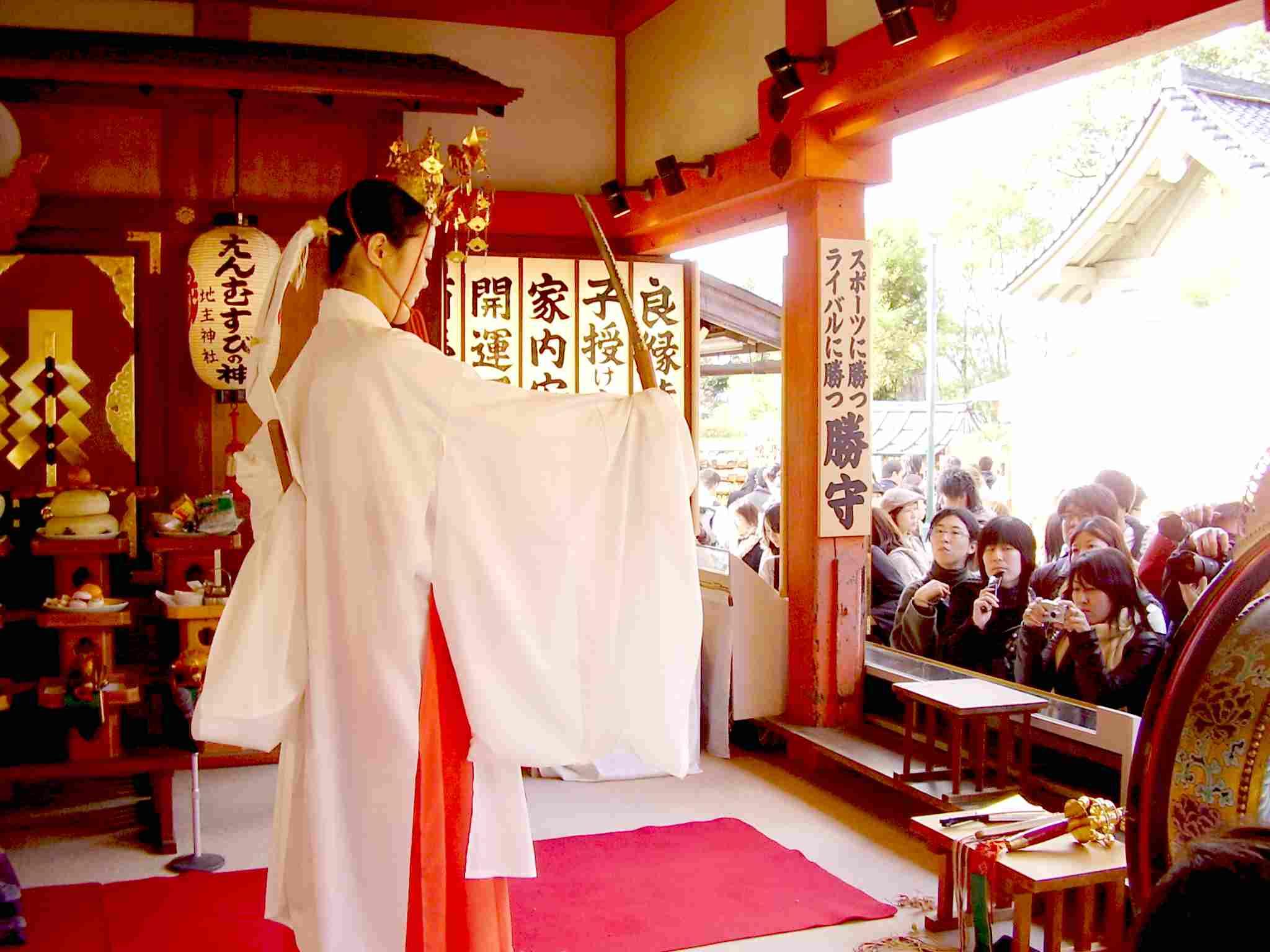 もみじ祭り お神楽「剣の舞」