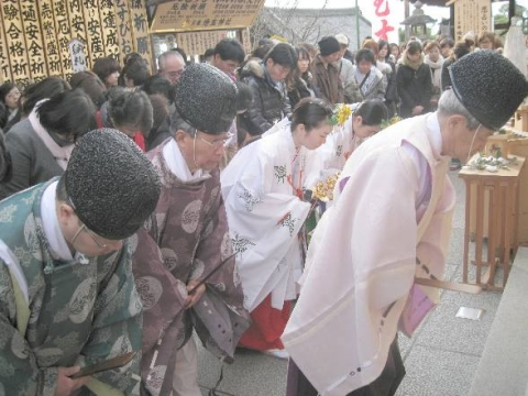 えんむすび地主祭り 宮司玉串奉奠