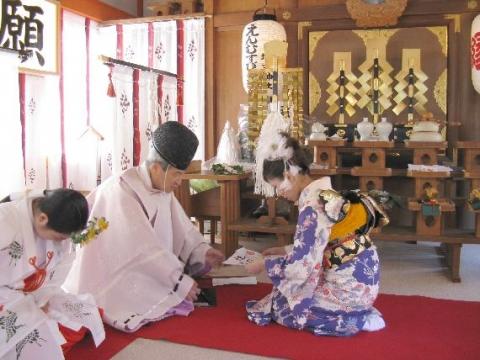 地主神社 成人祭