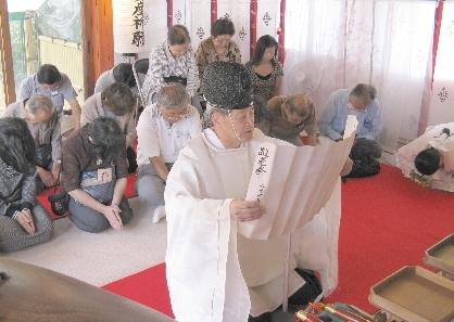 地主神社 敬老祭