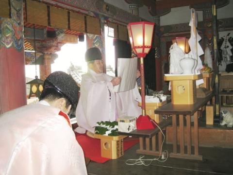 元旦祭 宮司祝詞奏上